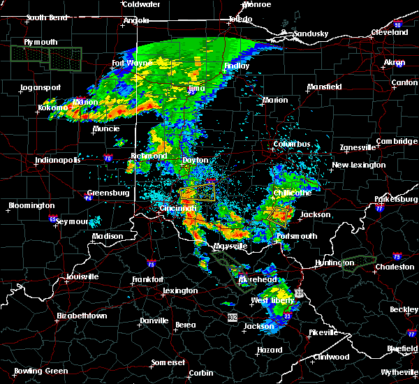 Radar Image for Severe Thunderstorms near Martinsville, OH at 7/18/2015 9:56 PM EDT