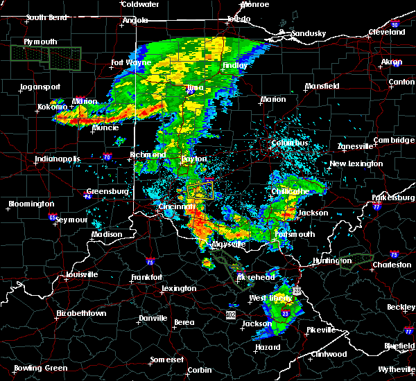Radar Image for Severe Thunderstorms near Clarksville, OH at 7/18/2015 10:11 PM EDT