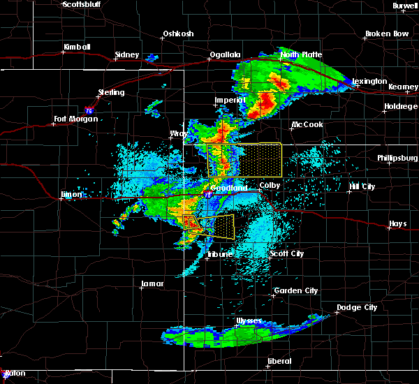 Radar Image for Severe Thunderstorms near Weskan, KS at 7/18/2015 10:11 PM MDT