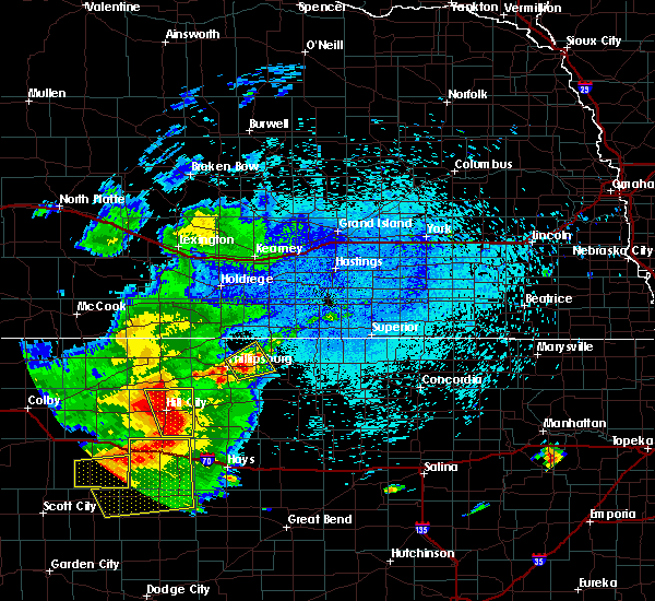 Radar Image for Severe Thunderstorms near Kensington, KS at 7/19/2015 2:40 AM CDT