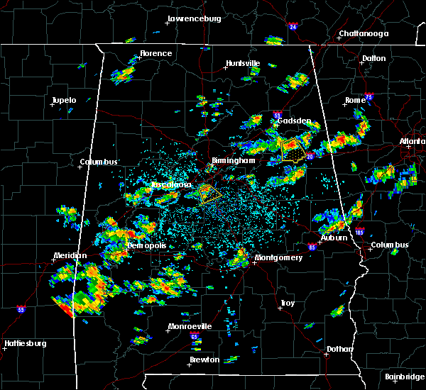 Radar Image for Severe Thunderstorms near Weaver, AL at 7/19/2015 1:02 PM CDT