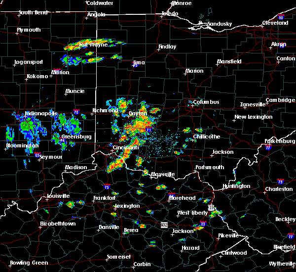 Radar Image for Severe Thunderstorms near Dayton, OH at 7/19/2015 2:04 PM EDT