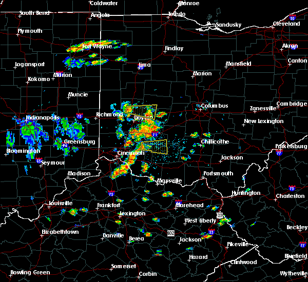Radar Image for Severe Thunderstorms near Martinsville, OH at 7/19/2015 2:06 PM EDT