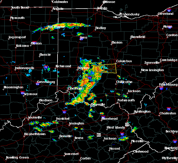 Radar Image for Severe Thunderstorms near Lafayette, OH at 7/19/2015 2:43 PM EDT