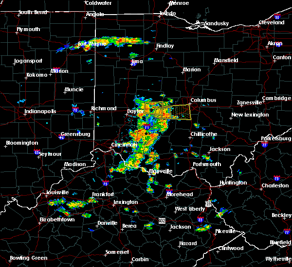 Radar Image for Severe Thunderstorms near South Vienna, OH at 7/19/2015 2:46 PM EDT