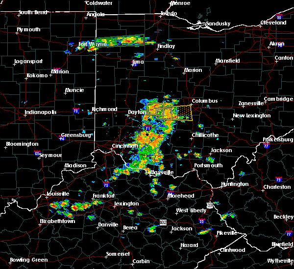 Radar Image for Severe Thunderstorms near Springfield, OH at 7/19/2015 2:53 PM EDT
