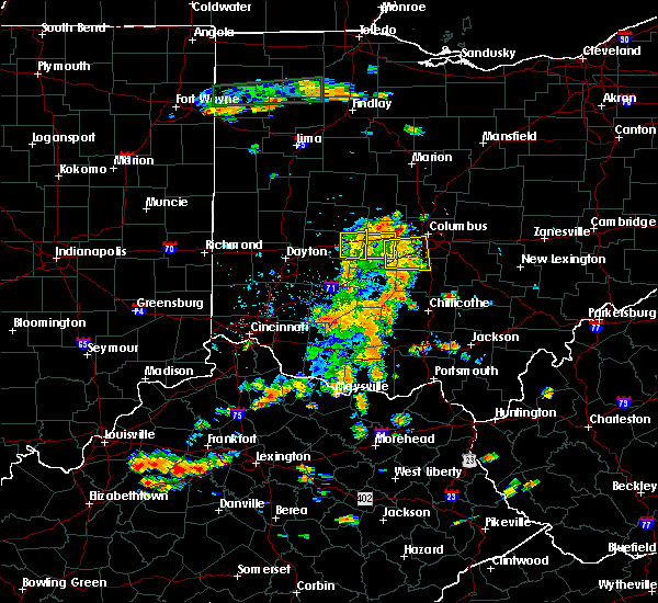 Radar Image for Severe Thunderstorms near South Vienna, OH at 7/19/2015 3:14 PM EDT