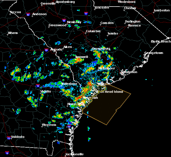 Radar Image for Severe Thunderstorms near Barnwell, SC at 7/19/2015 3:17 PM EDT