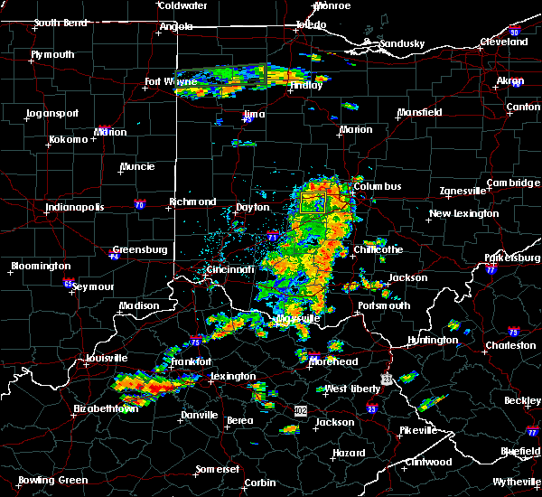 Radar Image for Severe Thunderstorms near Lafayette, OH at 7/19/2015 3:27 PM EDT