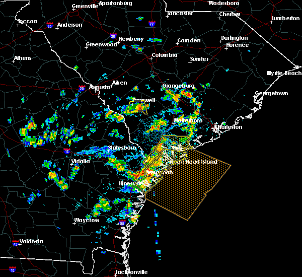 Radar Image for Severe Thunderstorms near Edisto Beach, SC at 7/19/2015 3:27 PM EDT