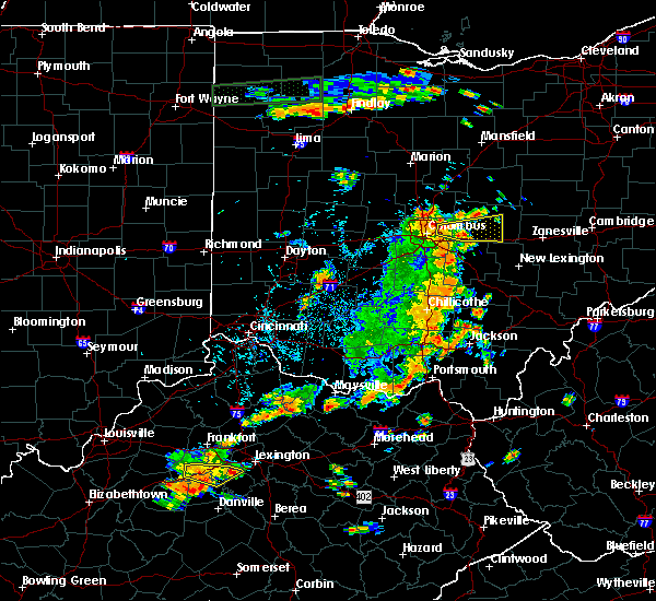 Radar Image for Severe Thunderstorms near New Albany, OH at 7/19/2015 3:58 PM EDT