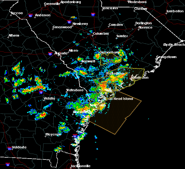 Radar Image for Severe Thunderstorms near Kiawah Island, SC at 7/19/2015 4:06 PM EDT