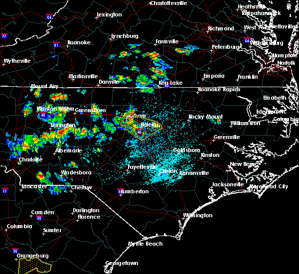 Radar Image for Severe Thunderstorms near Durham, NC at 7/19/2015 4:08 PM EDT