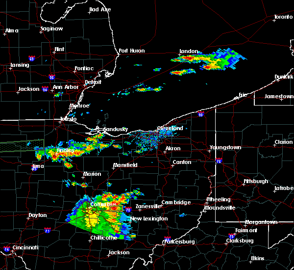 Radar Image for Severe Thunderstorms near New Riegel, OH at 7/19/2015 4:20 PM EDT