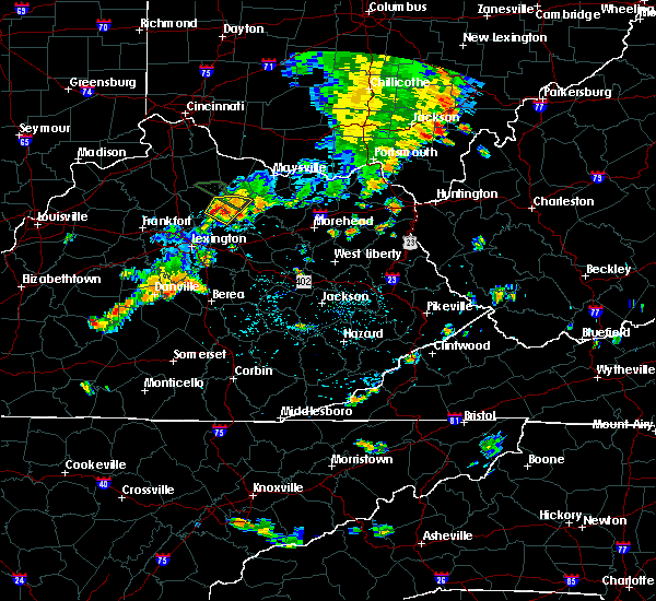 Radar Image for Severe Thunderstorms near Cynthiana, KY at 7/19/2015 4:33 PM EDT