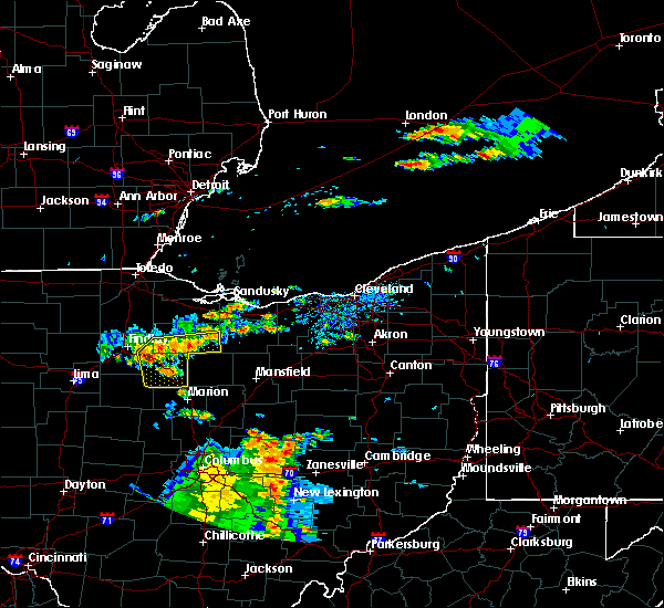 Radar Image for Severe Thunderstorms near New Riegel, OH at 7/19/2015 4:41 PM EDT