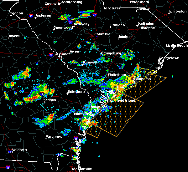 Radar Image for Severe Thunderstorms near Edisto Beach, SC at 7/19/2015 4:53 PM EDT