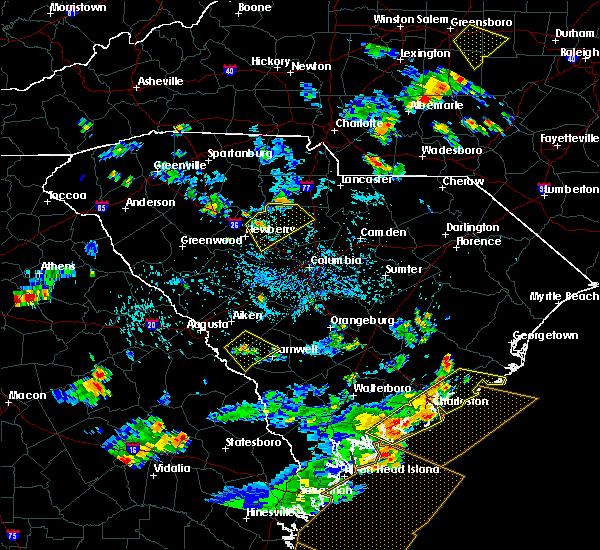 Radar Image for Severe Thunderstorms near Winnsboro, SC at 7/19/2015 4:56 PM EDT