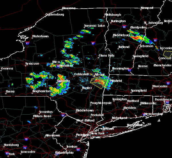 Radar Image for Severe Thunderstorms near Chatham, NY at 7/19/2015 5:03 PM EDT