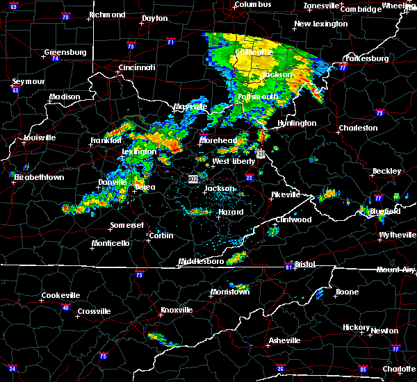 Radar Image for Severe Thunderstorms near Frenchburg, KY at 7/19/2015 5:10 PM EDT