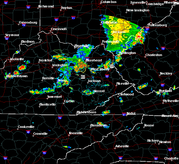 Radar Image for Severe Thunderstorms near Frenchburg, KY at 7/19/2015 5:32 PM EDT