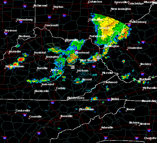 Radar Image for Severe Thunderstorms near Ezel, KY at 7/19/2015 5:39 PM EDT
