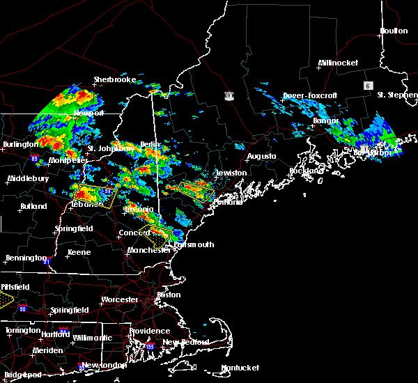 Radar Image for Severe Thunderstorms near Sanford, ME at 7/19/2015 5:40 PM EDT