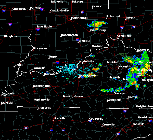 Radar Image for Severe Thunderstorms near Bardstown, KY at 7/19/2015 5:49 PM EDT
