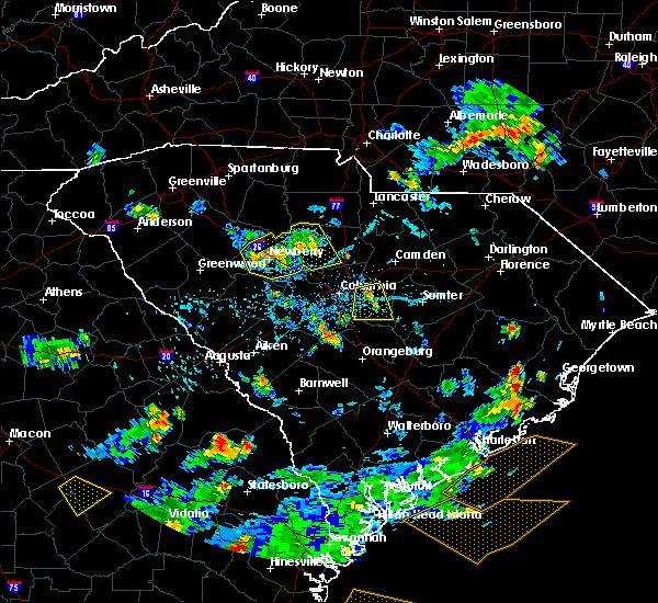 Radar Image for Severe Thunderstorms near Hopkins, SC at 7/19/2015 5:50 PM EDT