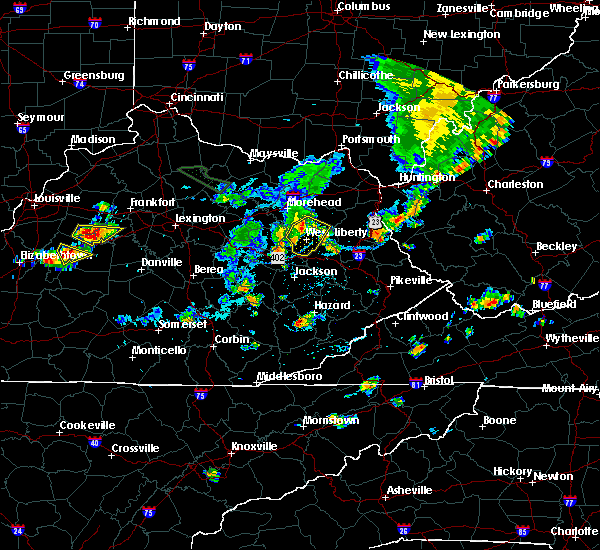 Radar Image for Severe Thunderstorms near Sandy Hook, KY at 7/19/2015 5:56 PM EDT