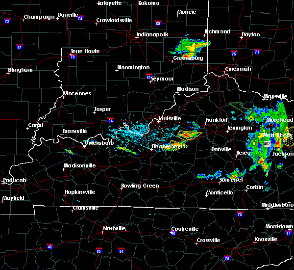 Radar Image for Severe Thunderstorms near Bardstown, KY at 7/19/2015 6:00 PM EDT