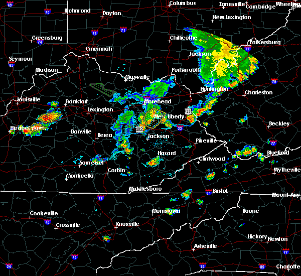 Radar Image for Severe Thunderstorms near Sandy Hook, KY at 7/19/2015 6:03 PM EDT