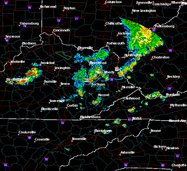 Radar Image for Severe Thunderstorms near Sandy Hook, KY at 7/19/2015 6:13 PM EDT