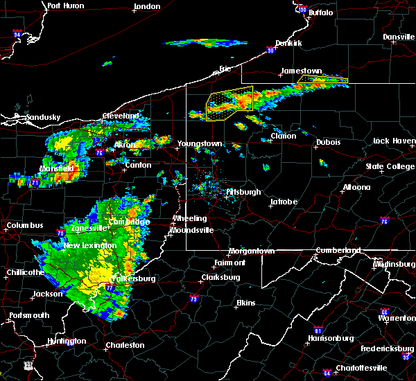 Radar Image for Severe Thunderstorms near Meadville, PA at 7/19/2015 6:17 PM EDT