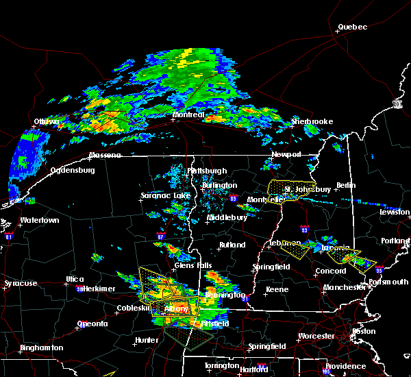 Radar Image for Severe Thunderstorms near Bartlett, NH at 7/19/2015 6:27 PM EDT