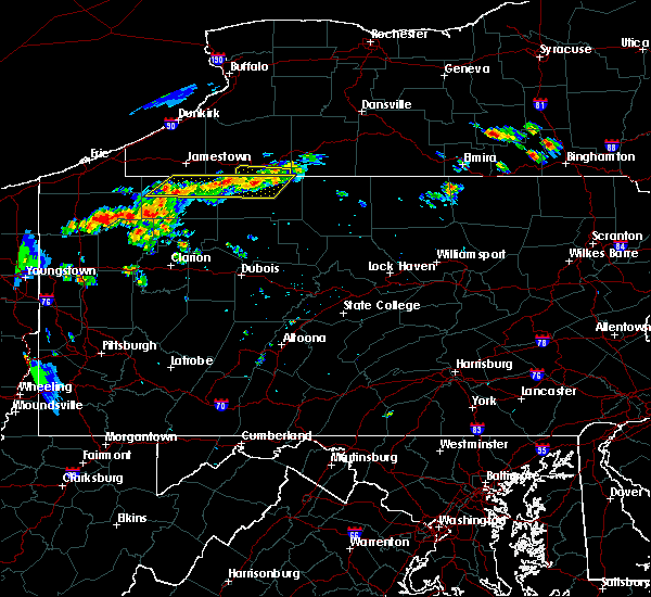 Radar Image for Severe Thunderstorms near Clarendon, PA at 7/19/2015 6:41 PM EDT