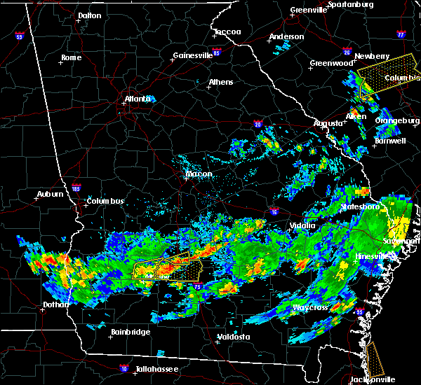 Radar Image for Severe Thunderstorms near Pitts, GA at 7/19/2015 6:58 PM EDT