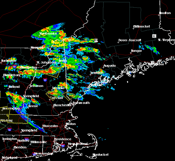 Radar Image for Severe Thunderstorms near Bartlett, NH at 7/19/2015 7:13 PM EDT