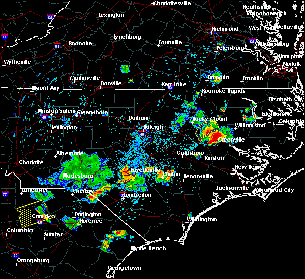 Radar Image for Severe Thunderstorms near Pinetops, NC at 7/19/2015 7:23 PM EDT