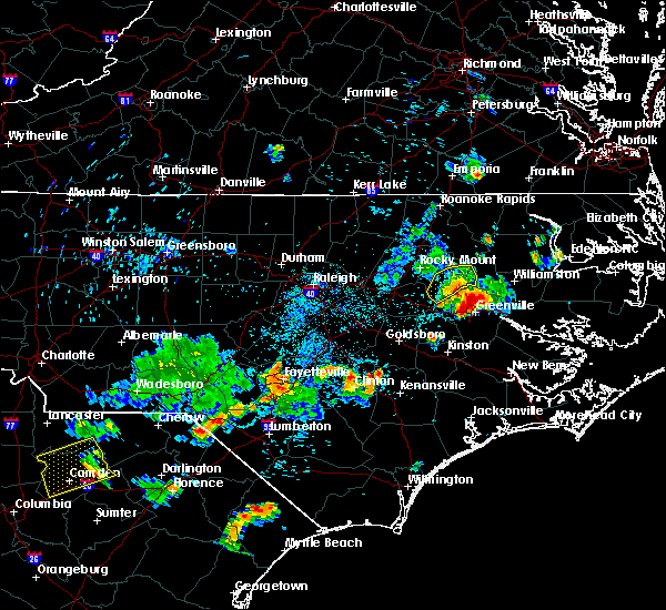 Radar Image for Severe Thunderstorms near Pinetops, NC at 7/19/2015 7:27 PM EDT