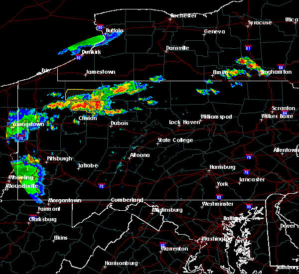 Radar Image for Severe Thunderstorms near Marienville, PA at 7/19/2015 7:27 PM EDT