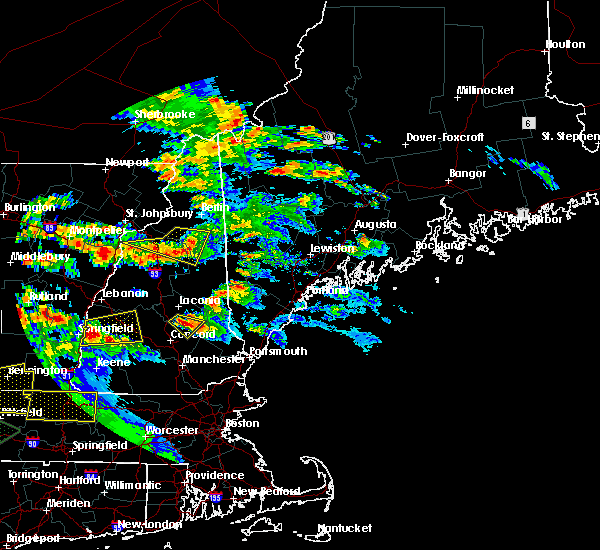 Radar Image for Severe Thunderstorms near Bartlett, NH at 7/19/2015 7:33 PM EDT