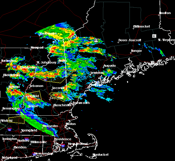 Radar Image for Severe Thunderstorms near Milton, NH at 7/19/2015 7:39 PM EDT