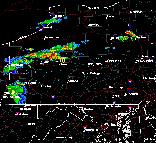 Radar Image for Severe Thunderstorms near Ridgway, PA at 7/19/2015 7:40 PM EDT