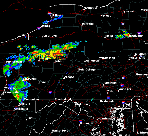 Radar Image for Severe Thunderstorms near Leeper, PA at 7/19/2015 7:56 PM EDT