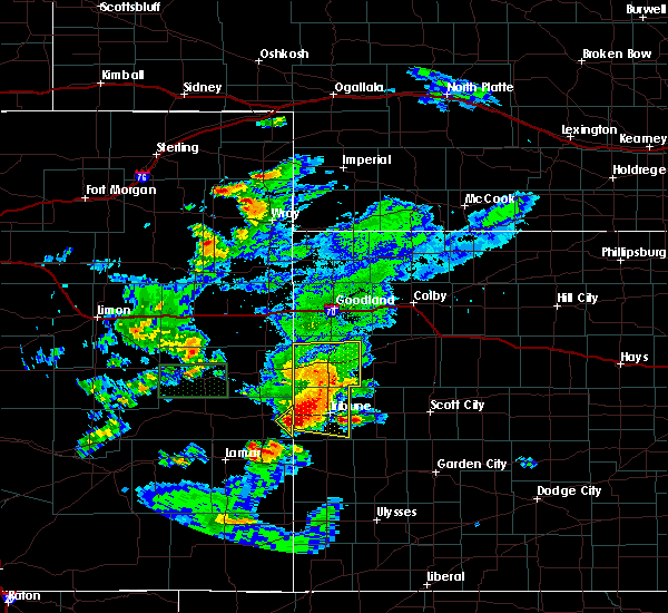 Radar Image for Severe Thunderstorms near Weskan, KS at 7/19/2015 6:25 PM MDT