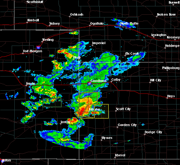 Radar Image for Severe Thunderstorms near Marienthal, KS at 7/19/2015 7:34 PM CDT