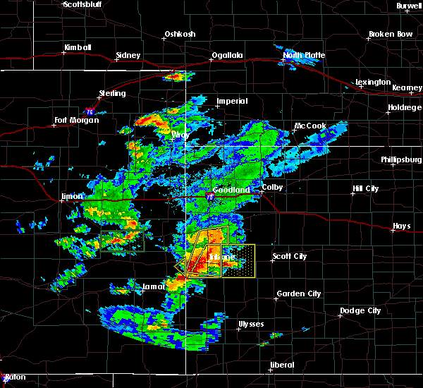 Radar Image for Severe Thunderstorms near Horace, KS at 7/19/2015 6:40 PM MDT