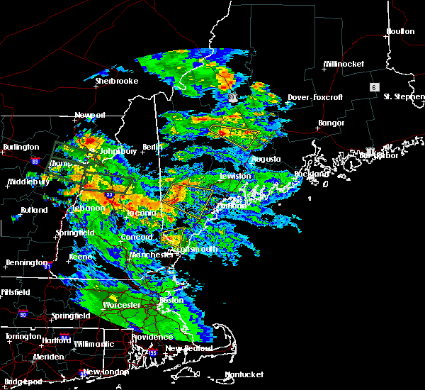 Radar Image for Severe Thunderstorms near Standish, ME at 7/19/2015 8:50 PM EDT