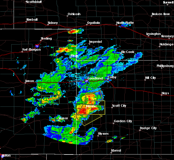 Radar Image for Severe Thunderstorms near Marienthal, KS at 7/19/2015 7:57 PM CDT